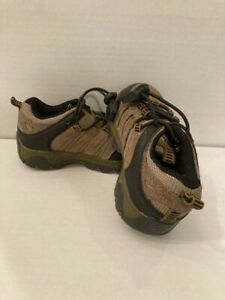 Swiss Gear Boys Hiking Shoes Brown SY8357.70 Leather Bungee Lace Up 7 M