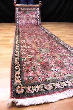 KASCHMIR SEIDE Seidenteppich - LÄUFER Silk Orient Rug TEPPICH 305x80cm #0985
