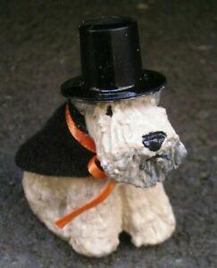 Soft Coated Wheaten Terrier HALLOWEEN Sculpture!
