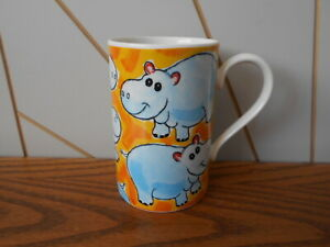JUNGLE FUN - HIPPO beautiful stoneware mug DUNOON Jane Brookshaw HIPPOPOTAMUS