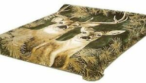 Solaron Blanket throw Thick Ultra Fine Polyester Mink Plush Deers Heavy Weight