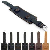 DASSARI Monarch Smooth Italian Leather Wrist Cuff Watch Strap Mens Bund Band