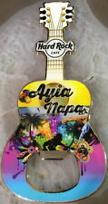 Hard Rock Cafe AYIA NAPA 2016 Guitar MAGNET Bottle Opener City Tee T-Shirt New!