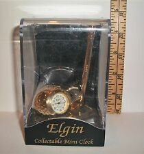 NEW IN BOX ELGIN COLLECTIBLE MINI CLOCK GOLF CLUB AND GOLF BALL