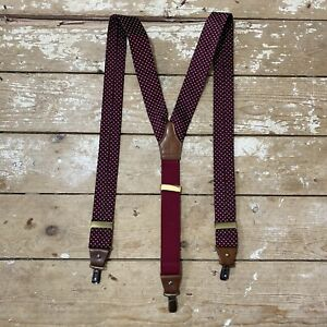 Gieves & Hawkes Braces Suspenders Houndstooth Made In England