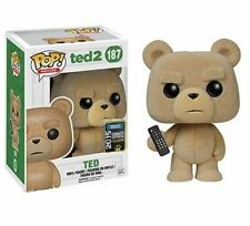 "SDCC EXCLUSIVE TED 2 FLOCKED WITH REMOTE 3.75"" VINYL POP FIGURE FUNKO"