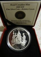 CANADIAN 2008 HOLIDAY CAROLS PROOF $20 DOLLAR COIN 1 oz. PURE SILVER W/COA