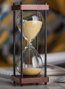 Large Hourglass Timer 30 Min Wooden Sand Timer Decorative Sandglass Home Decor