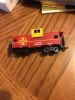Rare Vintage Bachmann Santa Fe ATSF 999628,Caboose Car,Red/Yellow,Ho Scale,USED
