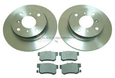 for HONDA PRELUDE 2.0 16V 2.2 + 2.3 1993-1997 REAR 2 BRAKE DISCS AND PADS 4STUD