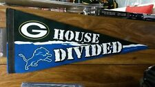 """NFL Detroit Lions / Green Bay Packers  House Divided Premium Pennant 12"""" x 30"""""""