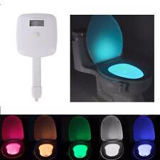 8-Farben LED Lampe für Toilettendeckel Toilette WC Sitz Nachtlicht Bad Klodeckel