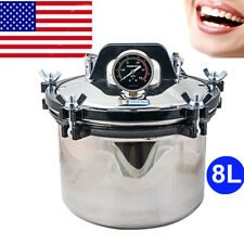 Portable DENTAL Steam Autoclave Sterilizer sterilization lab Equipment Stainless