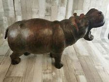 More details for tall leather hippo, well made