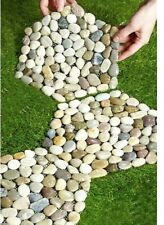 "New Set of 3 Pebble Stepping Stones Garden Ornament  Size of each: D25cm (10"")"