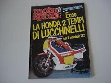 MOTOSPRINT 51/1981 HONDA 2 TEMPI DI MARCO LUCCHINELLI/FABBRICA MOTO LAVERDA SPA
