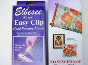 Elbesee Easy Clip Hand Rotating Frames Tapestry & Embroidery - All Sizes