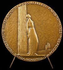 Médaille Gabriel Fauré poète et  ami d'André Malraux.poète sc Mûller 1950 Medal