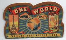 1950s One world Needle Book Case with Nice Graphics Made in Germany