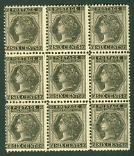 SG 41 Prince Edward Islands 1872. 6c black, block of 9. Unmounted mint