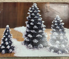2001  village square Christmas Large Tree Set Of 3