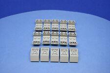 LEGO 15 x Schrägsteine negativ 45 Grad 4x2 althell grau oldgrey gray 4871