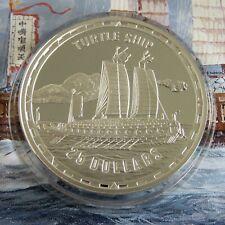 TURTLE SHIP 2006 1oz $25 .999 FINE SILVER PROOF SOLOMON ISLANDS - coa