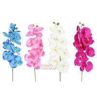 Artificial Butterfly Orchid Silk Bridal Bouquet Heads Fake Flower DIY Home Decor