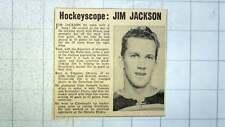 1960 Jim Jackson Streatham Pirates Hockey Player , Timmins Ontario