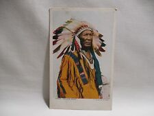CPA INDIENNE CHIEF YELLOW HAIR OLD VINTAGE NATIVE AMERICAN INDIAN TARJETA POSTAL
