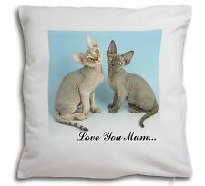 Devon Rex Cats 'Love You Mum' Soft Velvet Feel Cushion Cover With , AC-20lym-CPW