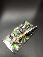 Bob Marley mixed Design, Metal Tobacco Smoking Pipe  + Screens