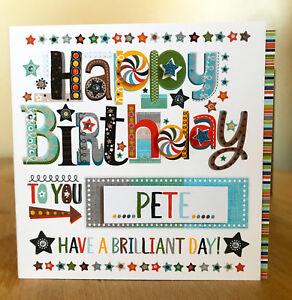 Birthday card for a boy man male personalised Birthday Boy special card.