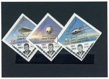 Jemen_1963 Mi.Nr. n. b. John F. Kennedy Gedenkmarken mit Raumfahrtmotiven