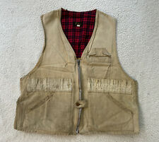 Vintage 1940s 1950s LL Bean Vest Rare Size Large See Measurements