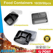 Food Containers 10/20/50pc Freezer Microwavable Meal Prep Takeway Bento Box