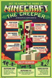 Minecraft - Gaming Poster / Print (The Creeper - Creepy BehaVIor)