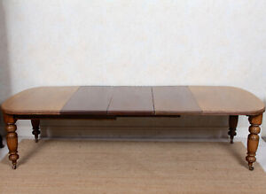 Antique Dining Table 12 Seater Victorian Mahogany 19th Century Banquet
