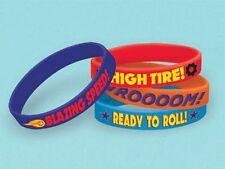 4 x Blaze Monster Rubber Bracelets Birthday Party Loot Bag Fillers Favor Toys