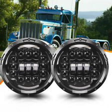 """FIT For Hummer H1 H2 H3 H3T 7""""Inch LED Halo Angel Eye Headlight Lamp H4-H13"""