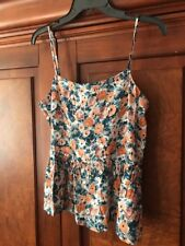Current/Elliott Size 2/ medium The Strappy Dusty Bowl Floral Tank Top $148 Rayon