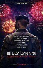 Billy Lynn's Long Halftime Walk vg 27x40 Original D/S Movie POSTER