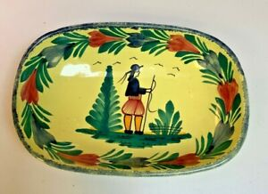 Henriot Quimper~France~Hand painted Yellow Vintage Bowl