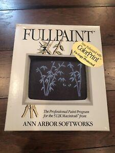 Vintage Software Fullpaint for The Apple 512k Macintosh