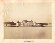 VINTAGE ALBUMEN PHOTO OF DROTTNINGHOLM PALACE, HOME OF SWEDISH ROYAL FAMILY