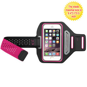 Vertical Pouch Universal Hot Pink/Black Sport Armband for Iphone 6 /7 /8 & Plus