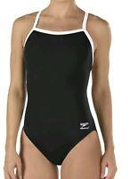Speedo Women's Black Size One-Piece Flyback Training Swimsuit Size 12 / 38 0120