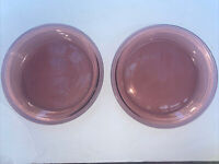 Lot Of 2 Pyrex Visions Cranberry Pie Plate 209 Vintage Corning Corningware 9in