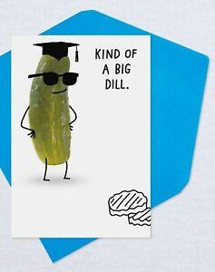 Funny Congratulations Graduation Big Dill Pickle Theme Hallmark Greeting Card
