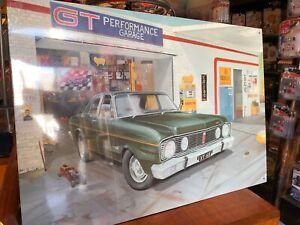 Ford 1968 GT Falcon XT Retro Garage Scene Sign